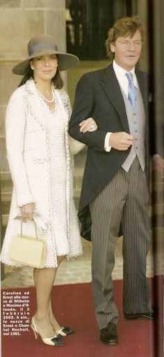 Princess Caroline and Prince Ernest Hanover.