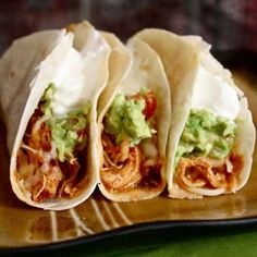 Slow Cooker Chicken Tacos. Yes please!