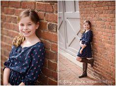 Downtown Richmond VA family photo session.  RVA. Tween girl poses. Casual head shots. Richmond. Virginia.  Kerry B Smith Photography. KBSphoto