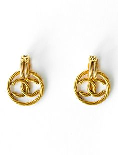 To know more about CHANEL Vintage gold logo hoop earrings, visit Sumally, a social network that gathers together all the wanted things in the world! Featuring over other CHANEL items too! 90s Jewelry, Ruby Jewelry, Chanel Jewelry, Cheap Jewelry, Custom Jewelry, Gold Jewelry, Jewelry Accessories, Jewelry Design, Jewellery