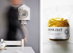 365 Knitting Clock by Siren Elise Wilhelmsen: the clock that knits a scarf in one year.