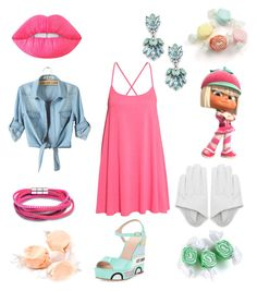Taffy by glitterbatgirl-5sos on Polyvore featuring polyvore, fashion, style, Kate Spade, Sole Society, Lime Crime, Salt Water Sandals and clothing
