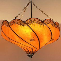 "Oriental Lamp Henna Lamp Ceiling Light Moroccan Trailer lamp ""Ganguly"" Orange in Home, Furniture & DIY, Lighting, Ceiling Lights & Chandeliers | eBay"
