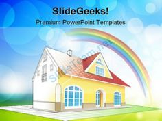 Dream Home Real Estate PowerPoint Templates And PowerPoint Backgrounds 0311 #PowerPoint #Templates #Themes #Background