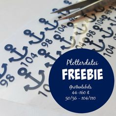 Plotter Freebie - maritime size labels in sizes 44 to 160 and to Silhouette Cameo Freebies, Plotter Silhouette Cameo, Buddha Statue Home, Cricut Baby Shower, Small House Interior Design, Textiles, Scan And Cut, Silhouette Portrait, Silhouette Studio