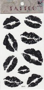 KingHorse Fashionable Temporary Tattoo Waterproof Body Sticker for Women Female (Viaous Black Sexy Vivid Lips) by King Horse. $4.99. Made and sold by GGSELL--Ship form USA, the only authorized online distributor in the US. Our temporary tattoos are certified by F.D.A, EN71, ASTM, safe and non-toxic. Use parts: Can be used in the skin, metal pottery, glass and other surfaces. Attached to the waist, chest, neck, arms, back, legs, bikini, paste any position you like, ...