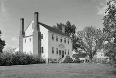 Historic Plantation Interiors | Green Springs (Plantation) North Elevation and East (End) Elevation ...
