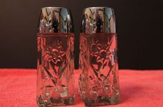 Vintage Anchor Hocking EAPC Star of  David Salt  & Pepper Shaker EUC HTF