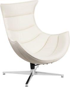 ffa4a4d2f0bf Flash-Furniture-Retro-White-Leather-Swivel-Cocoon-Chair-