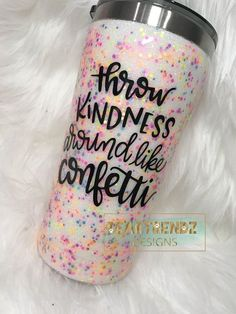 The Original Confetti Tumbler, Confetti Glitter Tumbler, Confetti Epoxy Tumbler, Beartrendz Designs Diy Tumblers, Custom Tumblers, Glitter Tumblr, Tumblr Cup, Cup Crafts, Glitter Cups, Glitter Balloons, Cute Cups, Tumbler Designs