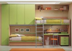 offset bunk beds with storage | Small Bedroom Ideas | Pinterest | Bunk bed,  Storage and Storage design