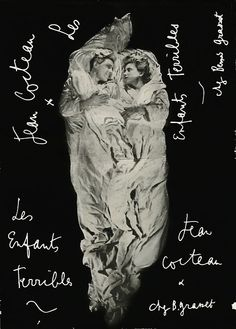 Poster for Les enfants terrible directed by Jean-Pierre Melville, screenplay by Jean Cocteau, 1950