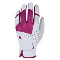 The Nike Women's Tech Xtreme Golf Glove is engineered to deliver an enhanced grip in bold performance style. Made with leather at the palm and thumb, the lightweight design offers superior grip, fit and range of motion. The glove also features Lycra spandex for flexibility #golfgloves