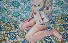 "Saatchi Art Artist Aleksandra Kalisz; Painting, ""No title VII (Green)"" #art"