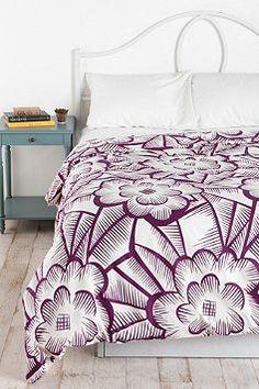 Plum & Bow Floral Crosshatch Duvet Cover - love!