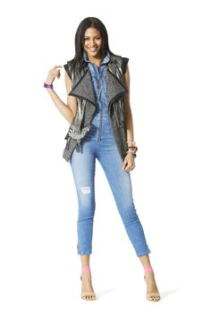 Lighten up your layers with a moto vest. The sleeveless style is a cool way to add edge to a basic denim look that's perf for transitioning into warmer weather!   - Seventeen.com