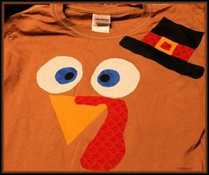 DIY Turkey Shirts Custom T Shirt My Personal Accent Thanksgiving Kids Craft
