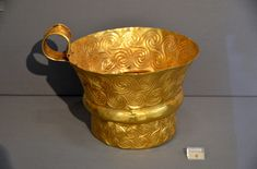 Gold cup from Grave Circle A at Mycenae, 16th cent. BCE, National Archeological Museum, Athens