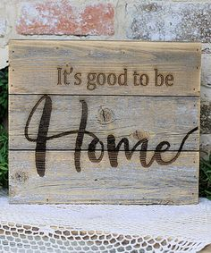 Natural 'It's Good to Be Home' Wall Sign, Wall Art, Distressed Wood Look, Rustic Home Decor #affiliate #home #farmhouse