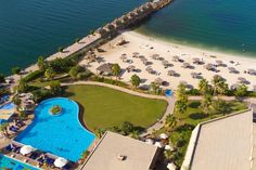Four swimming outdoor pools and private beach  with amazing views of Arabian Gulf, where guests can enjoy their time