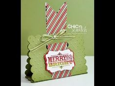 12 Days of Christmas #3 Merry & Bright Treat Holder, My Crafts and DIY Projects
