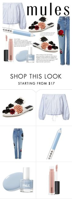 """Untitled #371"" by rocio-robles ❤ liked on Polyvore featuring Sanayi 313, Sea, New York, Topshop, Marc Jacobs and MAC Cosmetics"