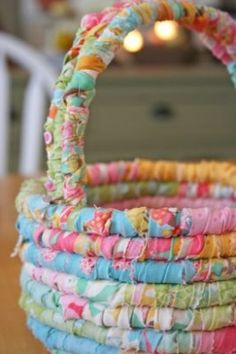 Rolled Fabric Easter Basket
