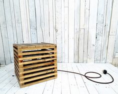 Cube Light from reclaimed pallet timber. Perfect for movie area they could be used for lighting and side tables.