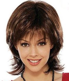 wigs In Stock Wigs Hair Styles For Women Over 50, Short Hair Cuts For Women, Long Hair Cuts, Medium Hair Cuts, Medium Hair Styles, Curly Hair Styles, Short Shag Hairstyles, Layered Haircuts, Short Hair With Layers