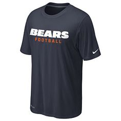 Get this Chicago Bears Sideline Dri-Fit Team Pride T-Shirt at ChicagoTeamStore.com