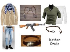 Dress like Nathan Drake from the Uncharted series on Playstation!