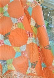 Fig Tree Quilts:Retro Orange, an idea for the Wacky Web die