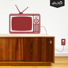 Retro TV Wall Decal - Living Room Wall Decal - Wall Graphics - Vinyl Wall Sticker