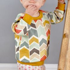 Baby pdf sewing pattern raglan sweatshirt by brindilleandtwig