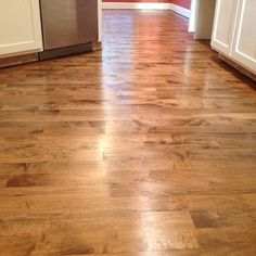 High Quality #hardwood #floor #refinish Project With #dark #brown #stain On #