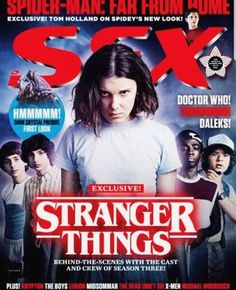 Stranger Things Eleven on the Cover of SFX Magazine, June Millie Bobby Brown, Season 3 Sfx Magazine, Movie Magazine, Stranger Things Season 3, Eleven Stranger Things, Mad Movies, Michael Moorcock, Free Magazines, Famous Monsters, The Dark Crystal