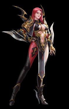 super Ideas for digital art fantasy girl armors Dark Fantasy Art, Fantasy Girl, Fantasy Female Warrior, Fantasy Art Women, Warrior Girl, Fantasy Armor, Anime Fantasy, Warrior Angel, Fantasy Character Design