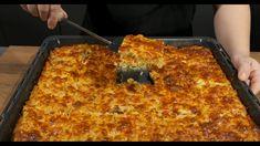 Φτιάξτε το για το μεσημεριανό τραπέζι - ΠΡΟΣΟΧΗ, κανείς δεν μπορεί να φάει μόνο ένα κομμάτι Garlic Chicken, Greek Recipes, How To Cook Pasta, Kitchen Living, Lasagna, Macaroni And Cheese, Food And Drink, Pizza, Sweets