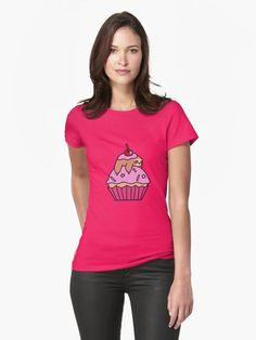 """Cupcake Sloth"" Womens Fitted T-Shirts by SaradaBoru | Redbubble"