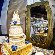 Beauty and the Beast inspired wedding cake. #Disney #Belle #movie