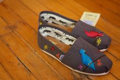 Birds and Wildflowers Custom TOMS Shoes by shandke on Etsy, $87.50