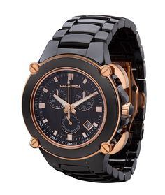 CALABRIA - Sottomarino Collection - CORRENTE - Hi-Tech Ceramic and Rose Gold Chronograph Men's Watch * Startling review available here