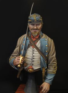 Box Art Confederate officer Bust from Ellies Miniatures | planetFigure | Miniatures