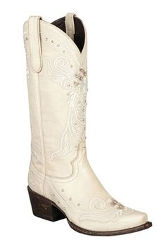 Lane Boots Wedding Ivory Women's Cowgirl Boots (LB0152C)