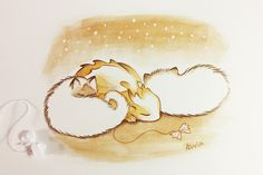 Sleepy cuties by AlviaAlcedo on DeviantArt Creature Drawings, Animal Drawings, Art Drawings, Fantasy Drawings, Fantasy Dragon, Fantasy Art, Amazing Beasts, Cute Dragon Drawing, Anime Villians