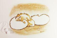 Sleepy cuties by AlviaAlcedo on DeviantArt Koi Dragon, Tiny Dragon, Cute Dragon Drawing, Myths & Monsters, Dragon Artwork, Mythical Creatures Art, Cute Dragons, Hippie Art, Cute Art