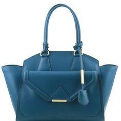 Tuscany Leather - Vesta - Sac à épaule en cuir Ruga avec poche frontale - Sarcelle - Achat / Vente Vesta - Sac à épaule en cui... - Cdiscount