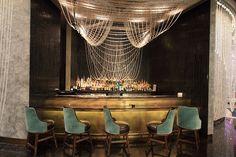 gold & turquoise elegant bar