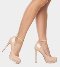 Enetta Nude Heel - Fashion and Love