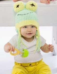 Baby Frog Hat | AllFreeKnitting.com